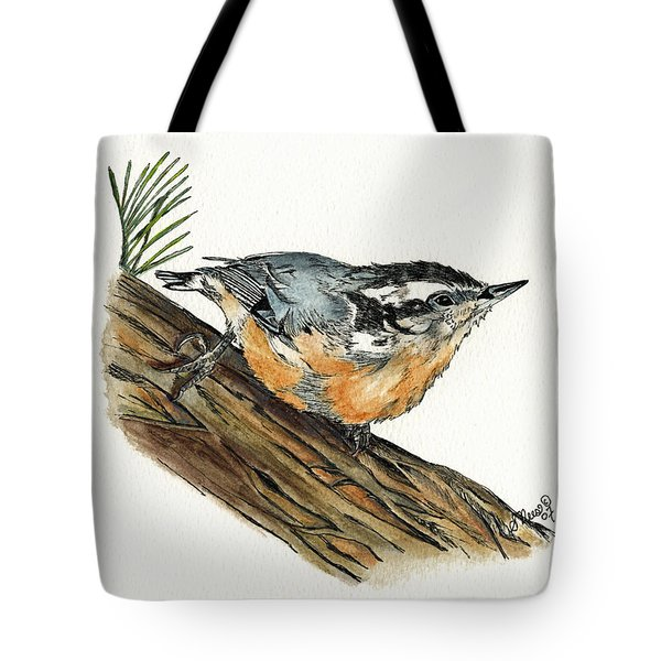 Nuthatch Tote Bag by Shari Nees
