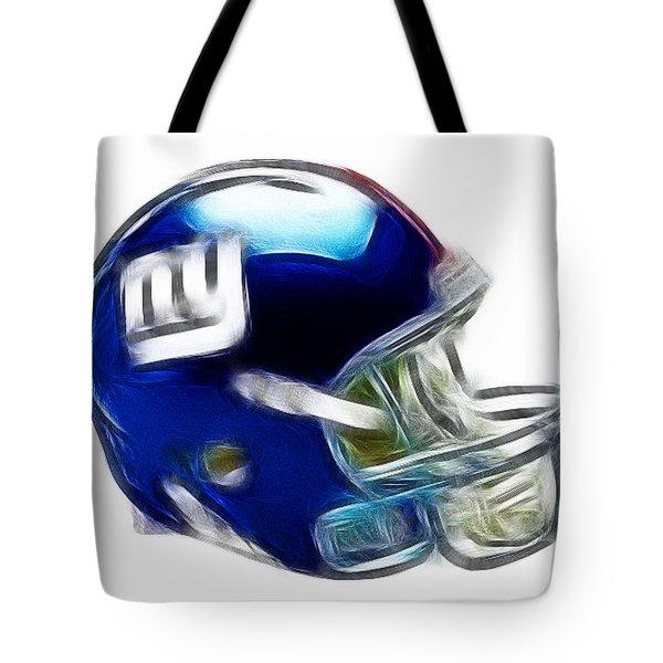NY Giants Helmet - fantasy art Tote Bag by Paul Ward