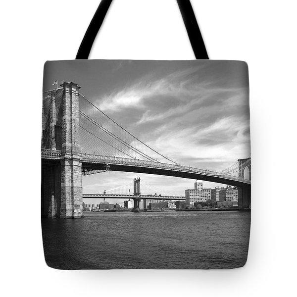 NYC Brooklyn Bridge Tote Bag by Mike McGlothlen