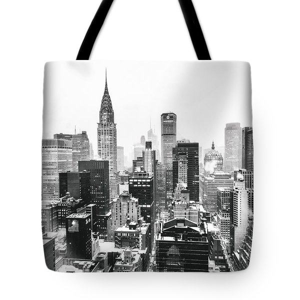 Nyc Snow Tote Bag by Vivienne Gucwa