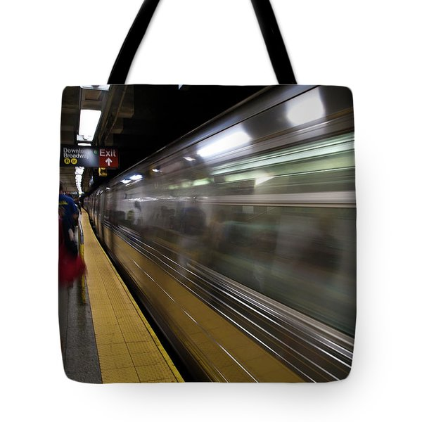 Nyc Subway Tote Bag by Sebastian Musial