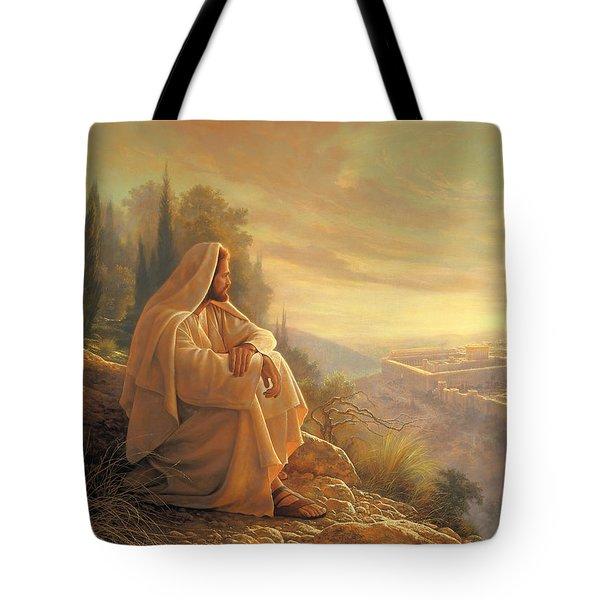 O Jerusalem Tote Bag by Greg Olsen