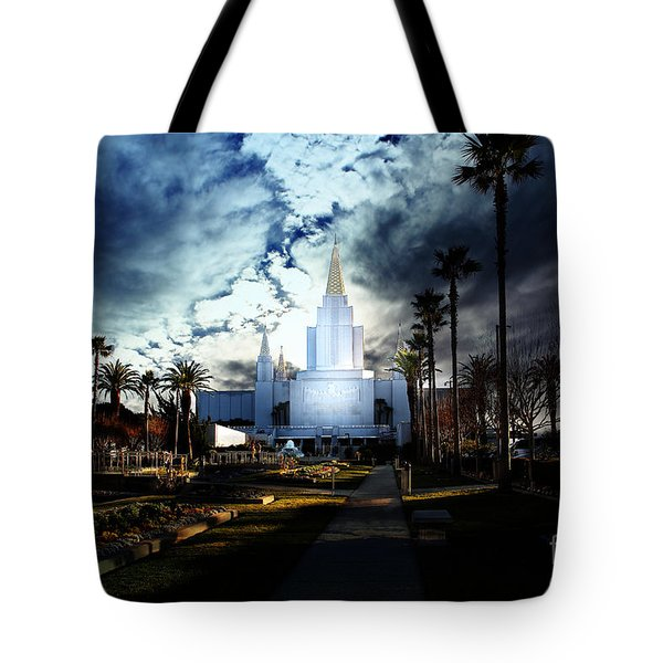 Oakland California Temple . The Church Of Jesus Christ Of Latter-day Saints Tote Bag by Wingsdomain Art and Photography