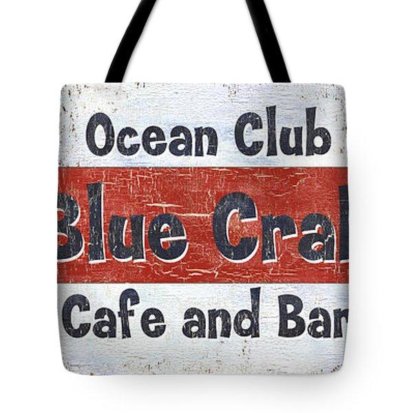 Ocean Club Cafe Tote Bag by Debbie DeWitt