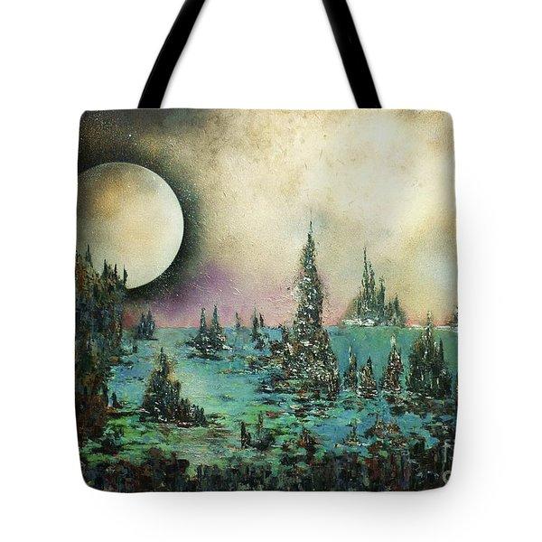 Ocean Moonrise Tote Bag by Kaye Miller-Dewing