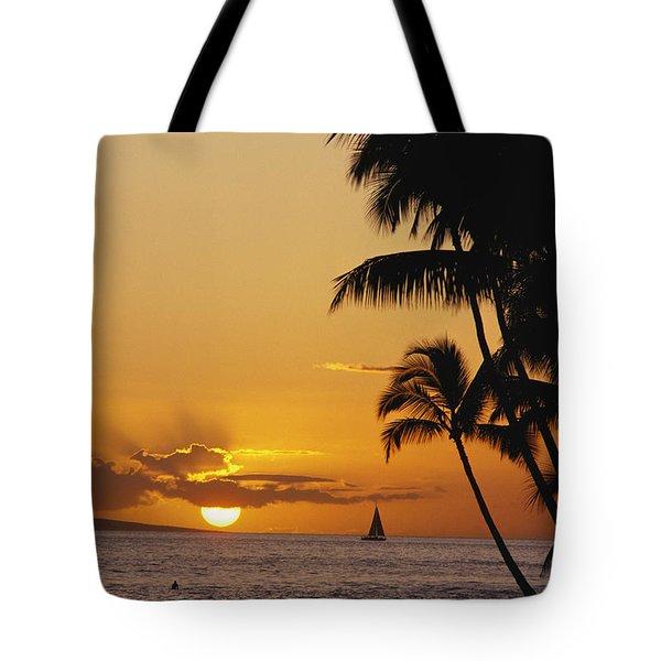 Ocean Sunset Tote Bag by Erik Aeder - Printscapes
