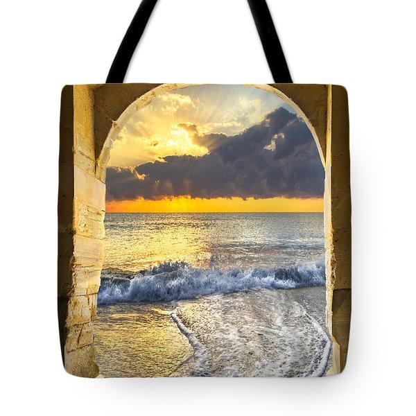 Ocean View Tote Bag by Debra and Dave Vanderlaan