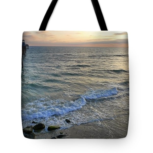Oceanside Tote Bag by Skip Hunt