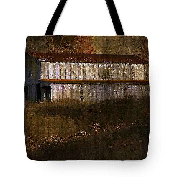 October Barn Tote Bag by Ron Jones