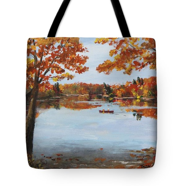 October Morn At Walden Pond Tote Bag by Jack Skinner