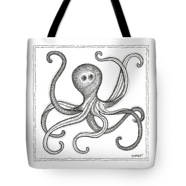 Octopus Tote Bag by Stephanie Troxell