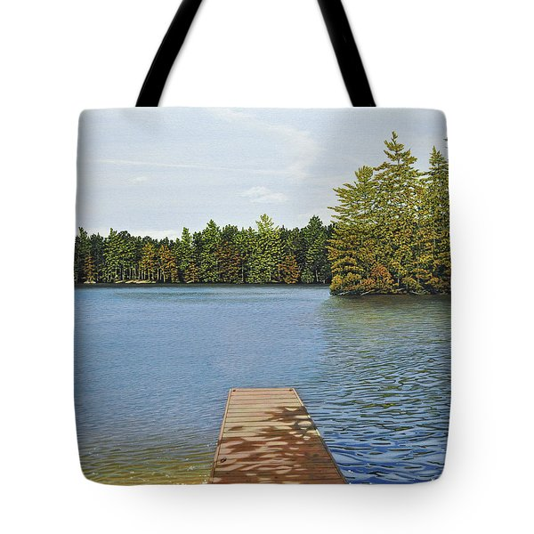 Off The Dock Tote Bag by Kenneth M  Kirsch