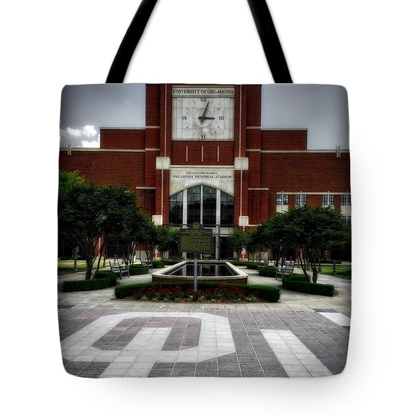 Oklahoma Memorial Stadium Tote Bag by Center For Teaching Excellence