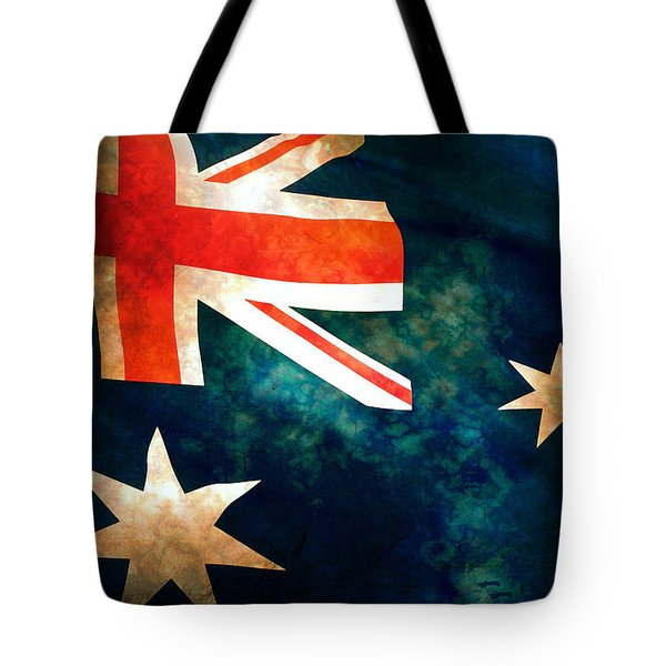 Old Australian Flag Tote Bag by Phill Petrovic