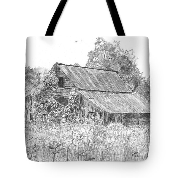 Old Barn 4 Tote Bag by Barry Jones