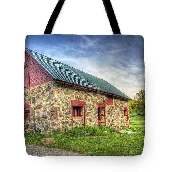 Old Barn at Dusk Tote Bag by Scott Norris