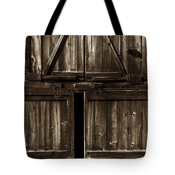 Old Barn Door - toned Tote Bag by Paul W Faust -  Impressions of Light