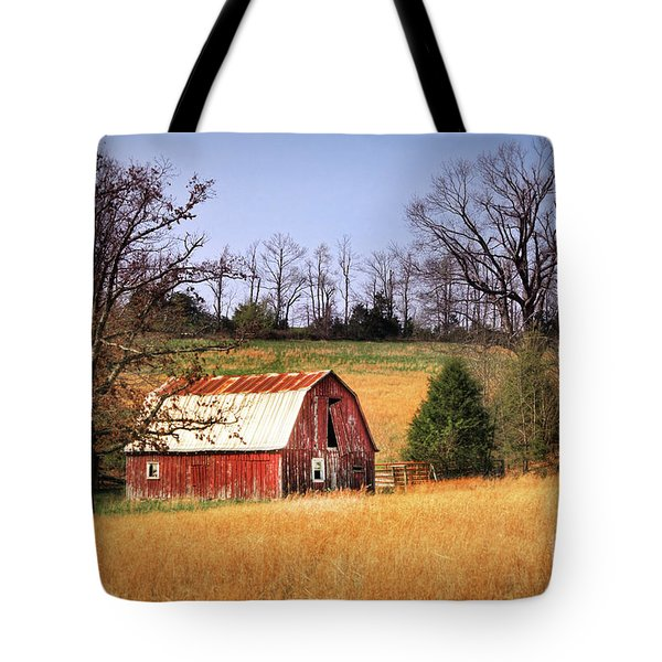 Old Barn Tote Bag by Tamyra Ayles