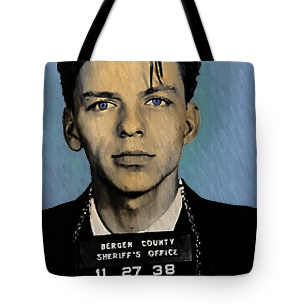 Old Blue Eyes - Frank Sinatra Tote Bag by Bill Cannon