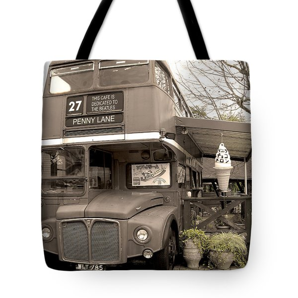 Old Bus Cafe Tote Bag by Eena Bo