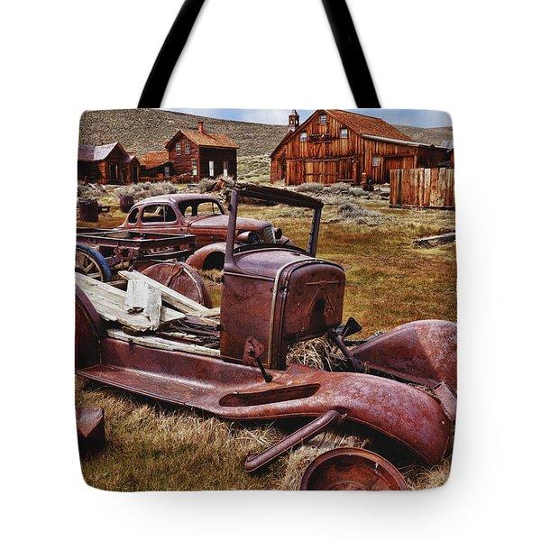 Old Cars Bodie Tote Bag by Garry Gay