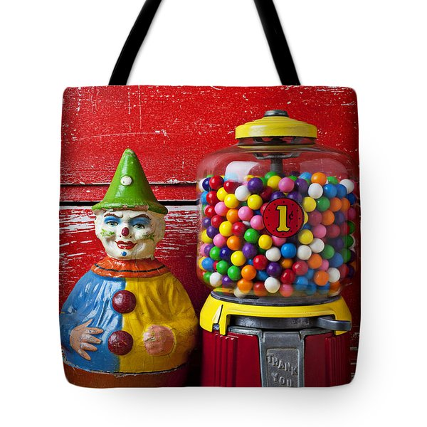 Old clown toy and gum machine  Tote Bag by Garry Gay