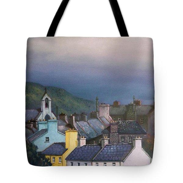 Old Copper Mining Town Tote Bag by Sean Conlon