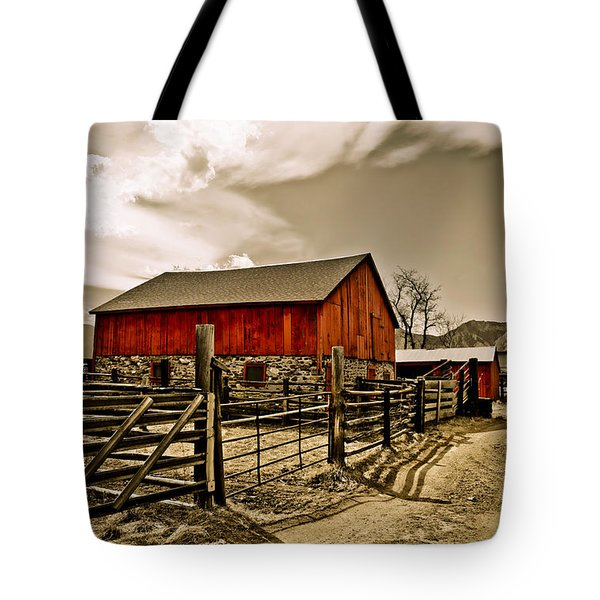 Old Country Farm Tote Bag by Marilyn Hunt
