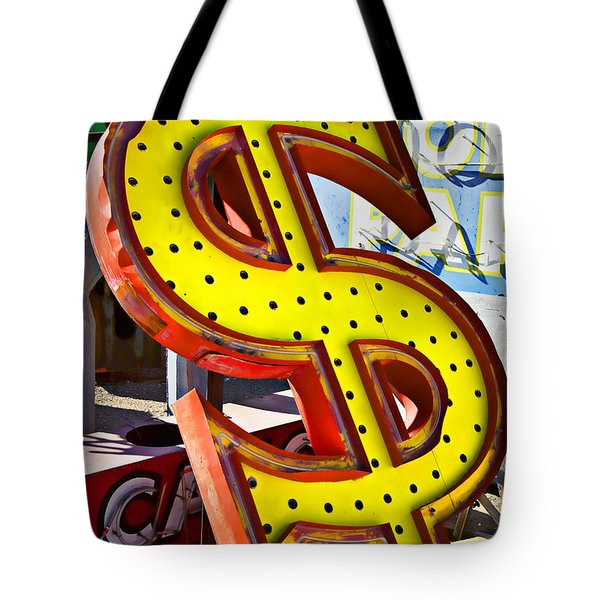 Old Dollar Sign Tote Bag by Garry Gay