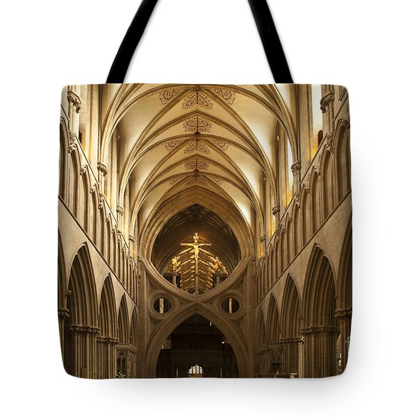 Old English Style Cathedral Tote Bag by Heiko Koehrer-Wagner