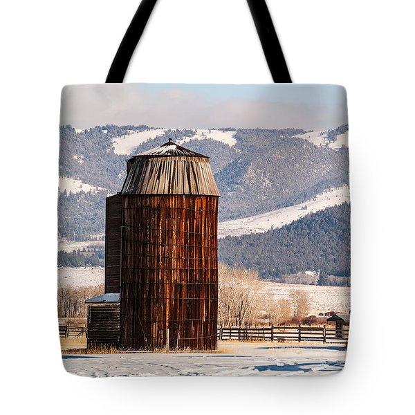 Old Farm Buildings Tote Bag by Sue Smith