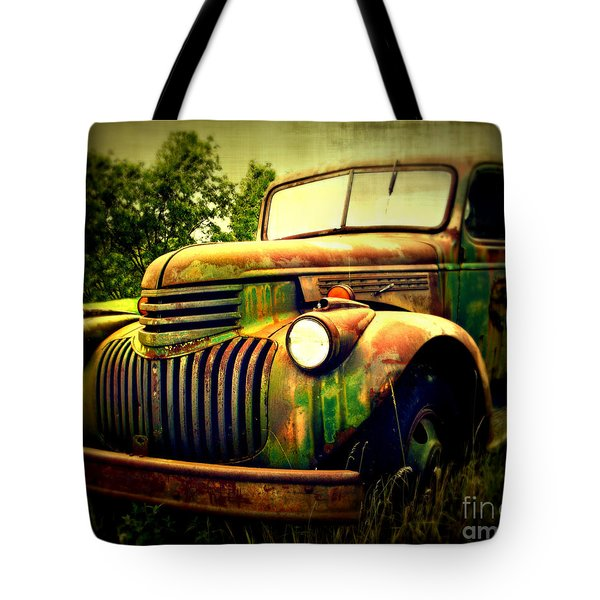 Old Flatbed 2 Tote Bag by Perry Webster