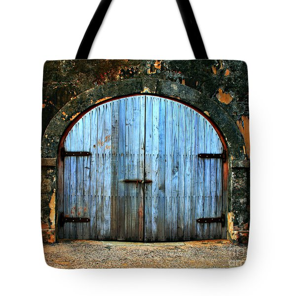 Old Fort Doors Tote Bag by Perry Webster