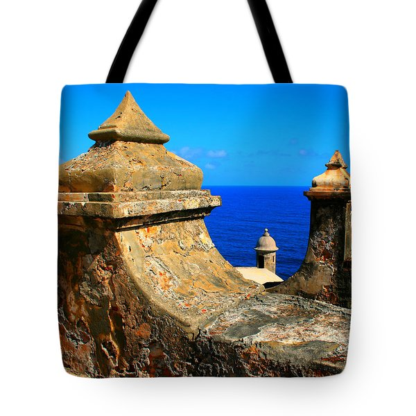 Old Fort Puerto Rico Tote Bag by Perry Webster