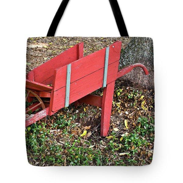 Old Garden Wheel Barrow Tote Bag by Douglas Barnett