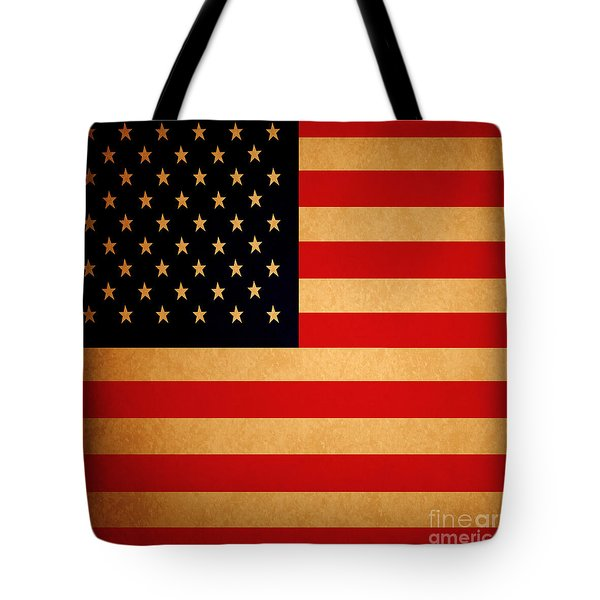 Old Glory . Square Tote Bag by Wingsdomain Art and Photography