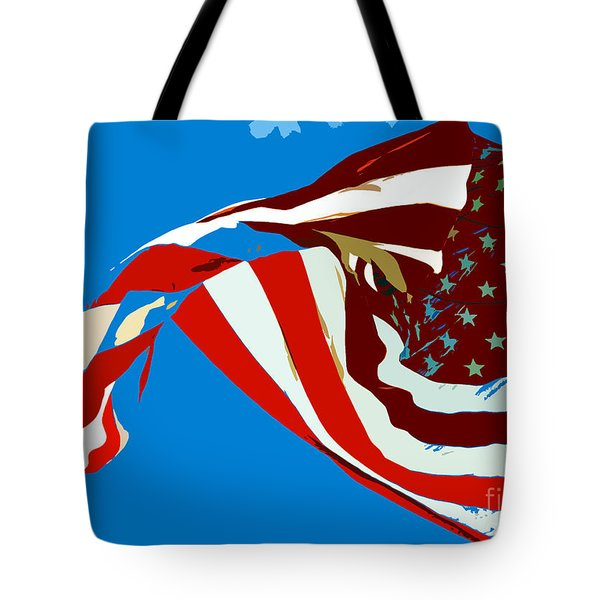 Old Glory Flying Tote Bag by David Lee Thompson