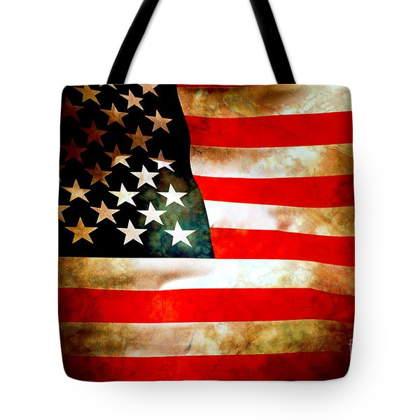 Old Glory Patriot Flag Tote Bag by Phill Petrovic