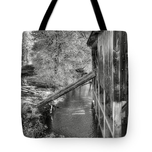 Old Grist Mill Tote Bag by Joann Vitali