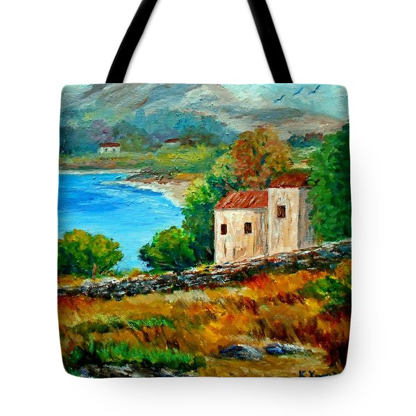 Old House In Mani Tote Bag by Constantinos Charalampopoulos