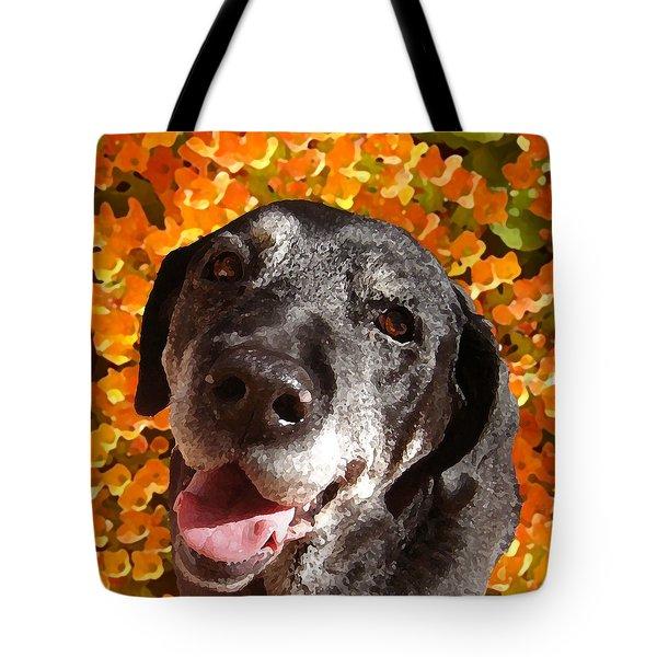 Old Labrador Tote Bag by Amy Vangsgard