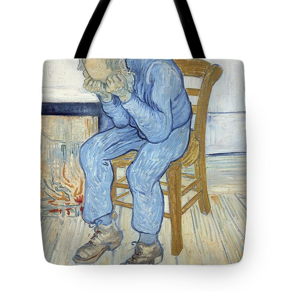 Old Man In Sorrow Tote Bag by Vincent van Gogh