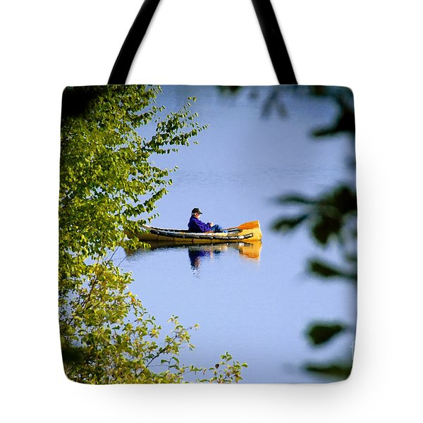 Old Man On The Lake Tote Bag by David Lee Thompson