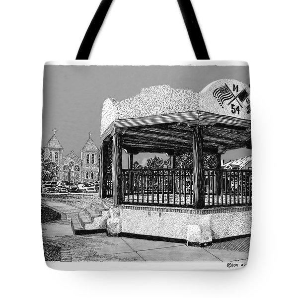 Old Mesilla Plaza and Gazebo Tote Bag by Jack Pumphrey