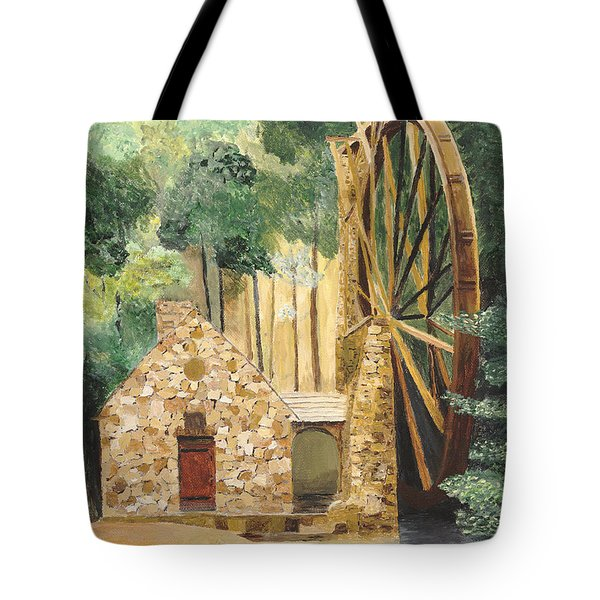 Old Mill At Berry College Tote Bag by Rodney Campbell