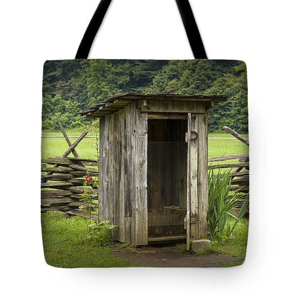 Old Outhouse On A Farm In The Smokey Mountains Tote Bag by Randall Nyhof