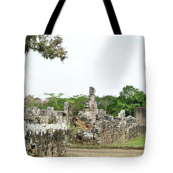 Old Panama City Ruins 8 Tote Bag by Douglas Barnett