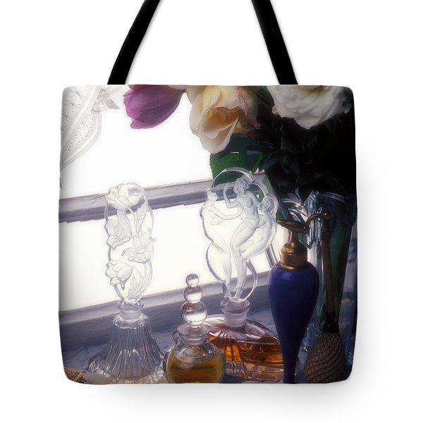 Old Perfume Bottles Tote Bag by Garry Gay