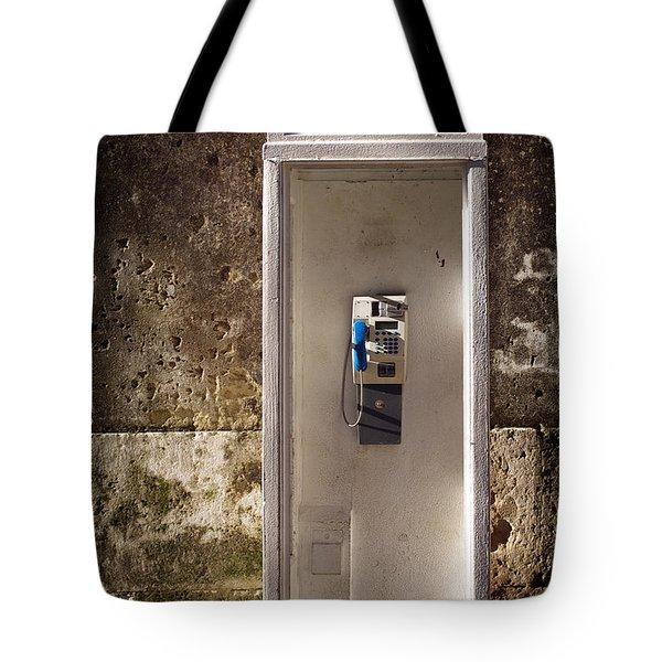 Old phonebooth Tote Bag by Carlos Caetano