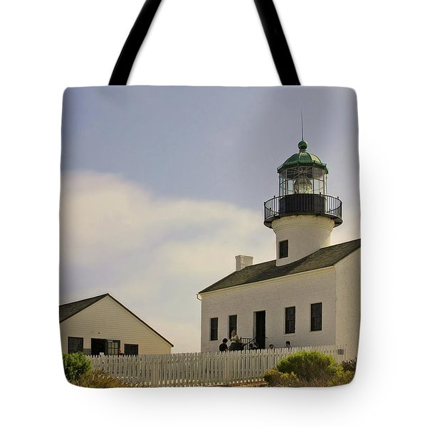 Old Point Loma Lighthouse - Cabrillo National Monument San Diego Ca Tote Bag by Christine Till